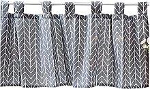 VIIPOO Semi Curtain Short Curtain Bistro Curtain
