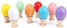 Vikenner 10 Pcs Wooden Egg Cup Holders Serving Cup
