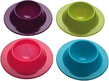 Vikenner 4Pcs Silicone Egg Cup Holders Serving Cup
