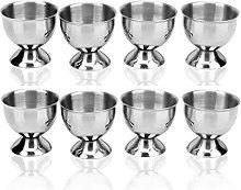 Vikenner 8 Pcs Stainless Steel Egg Cup Holders