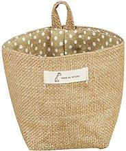 Vikenner Jute Cotton Linen Storage Organizer Bags