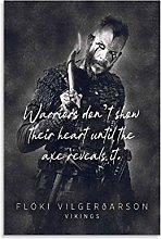 Vikings Floki Quote Canvas Art Poster and Wall Art