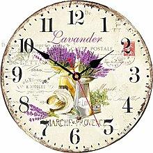VIKMARI 14 Inch Silent Non-Ticking Purple Lavender