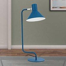 Viktoria desk lamp, adjustable head, blue