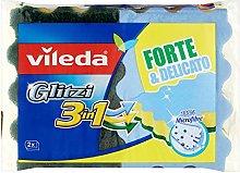 Vileda Glitzi Sponge 3 In 1 - 5 Packs of 2 Sponges