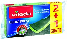 Vileda Ultrafresh Fiber Scrubber with Sponge 2+1,