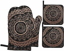 vilico 4PCS Pieces Oven Mitts and Pot