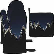 Vilico Cold Dark Forest Night Oven Mitts and Pot