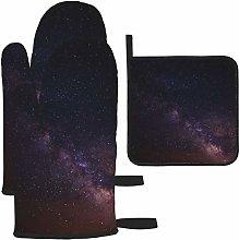 Vilico Cosmos Dark Galaxy Milky Way Sky Oven Mitts