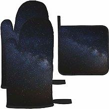 Vilico Cosmos Dark Milky Way Oven Mitts and Pot