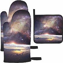 Vilico Galaxy Star Infinity Cosmos Dark Oven Mitts