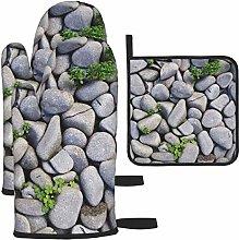 Vilico Rocks Stones Pebbles Background Gray Oven