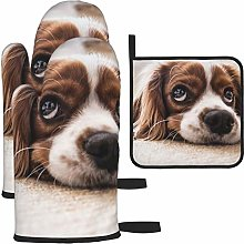 Vilico White And Brown Cockerspaniel Oven Mitts