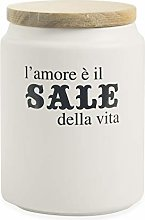 Villa d'Este Home Tivoli Salt Jar, Stoneware,
