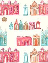 Villa Nova Pink City Wallpaper, W570/01