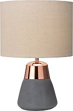 Village at Home Jasper Table Lamp - Grey and Copper