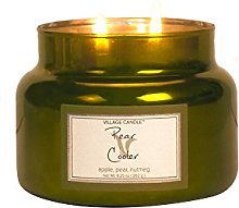 Village Candle Pear Cooler, Green, 10.3X 10.1X