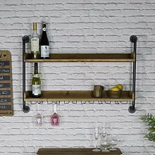 Villebois Wall Mounted Wine Cabinet August Grove