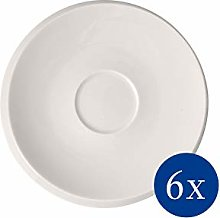 Villeroy & Boch NewMoon Coffee Saucers, Set of 6,
