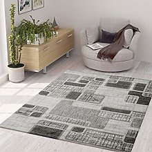 VIMODA Designer Rug Modern Checked Retro Pattern