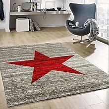 VIMODA Heatset Child's room Rug, Star pattern,