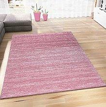 VIMODA Living Room Rug Modern Pink Short Pile