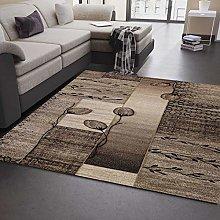 VIMODA Modern Living Room Rug Natural Colours