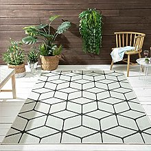 VIMODA Rhombus Pattern Rug Suitable for Indoor and