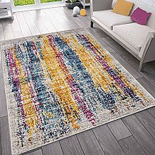 VIMODA Short Pile Rug for Living Room Colourful
