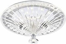 Vincent ceiling light glass and polished chrome 1