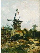 Vincent Van Gogh Windmills On Montmartre Large