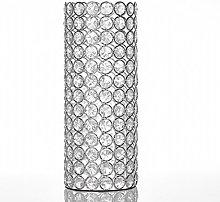 VINCIGANT Crystal Beads Flower Vase Bling Silver