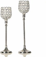 VINCIGANT Silver Candle Holders for Flameless