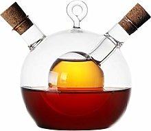 Vinegar Bottle Oil Dispenser, SUNASQ 2 in 1 Safe