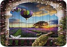 VINISATH Bath Mat,Garden Purple Lavender Flower