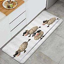 VINISATH Kitchen Mats Rug Washable,Cartoon Sheep