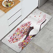 VINISATH Kitchen Mats Rug Washable,Girl with a
