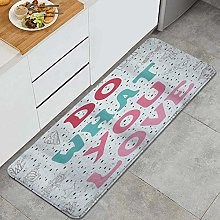 VINISATH Kitchen Mats Rug Washable,Love What You
