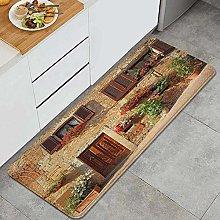 VINISATH Kitchen Mats Rug Washable,Picturesque