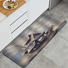 VINISATH Kitchen Mats Rug Washable,Snail with a