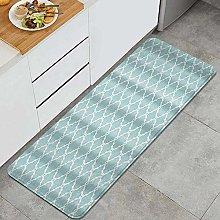VINISATH Kitchen Mats Rug Washable,White Blue