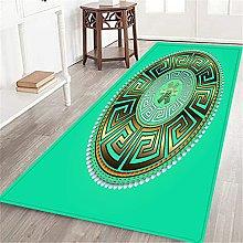 VINISATH Long Floor Mat Ancient round ornament