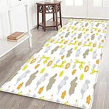 VINISATH Long Floor Mat Baby animals print