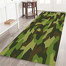 VINISATH Long Floor Mat Camouflage multicolor art