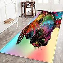 VINISATH Long Floor Mat Color dog background