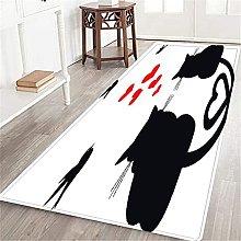 VINISATH Long Floor Mat Couple loving cat Non-Slip