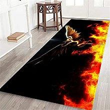 VINISATH Long Floor Mat Devil and Angel Non-Slip