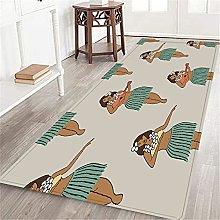 VINISATH Long Floor Mat Hawaiian Hula Girl Fashion