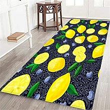 VINISATH Long Floor Mat Lemon and blueberry