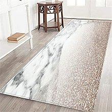 VINISATH Long Floor Mat Rose Gold Glitter on
